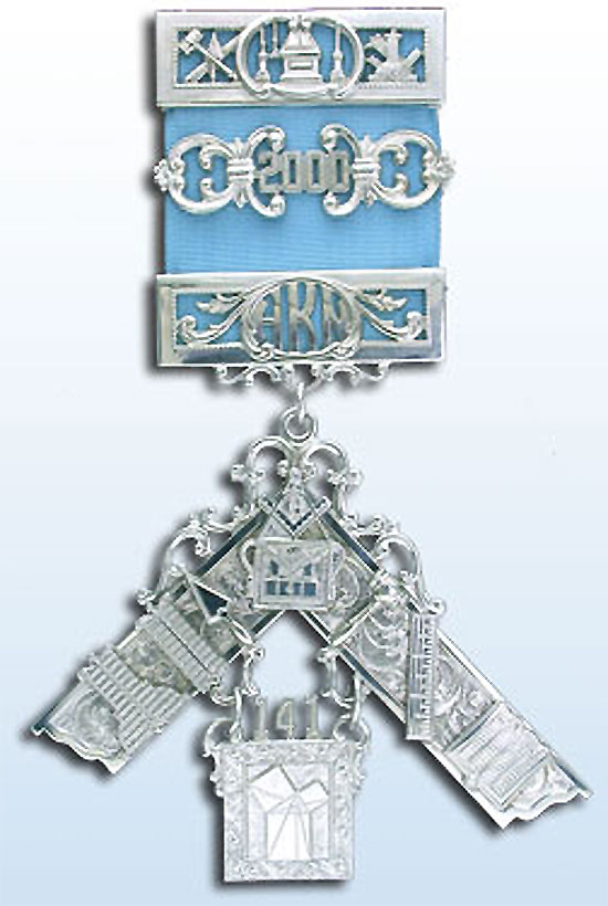 Sterling Silver Past Master's Jewel